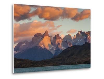 Chile, Magallanes Region, Torres Del Paine National Park, Lago Pehoe, Dawn Landscape-Walter Bibikow-Metal Print