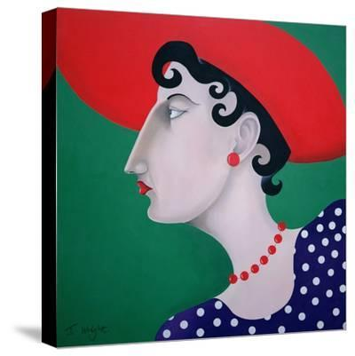 Women in Profile Series, No. 16, 1998-John Wright-Stretched Canvas Print