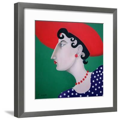Women in Profile Series, No. 16, 1998-John Wright-Framed Giclee Print