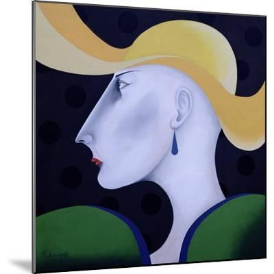 Women in Profile Series, No.19, 1998-John Wright-Mounted Giclee Print