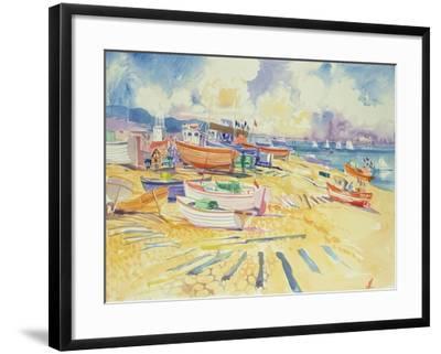 Fishing Boat Beach-Elizabeth Jane Lloyd-Framed Giclee Print