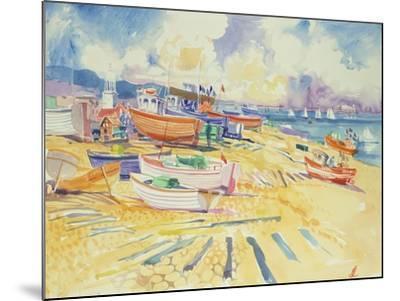 Fishing Boat Beach-Elizabeth Jane Lloyd-Mounted Giclee Print