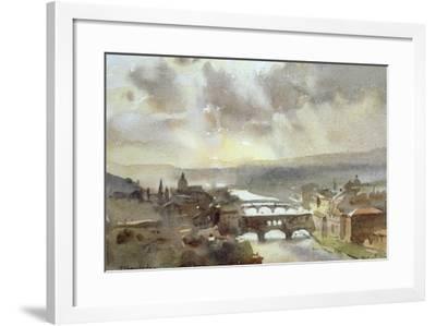 River Arno, Florence-Trevor Chamberlain-Framed Giclee Print