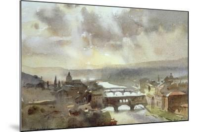 River Arno, Florence-Trevor Chamberlain-Mounted Giclee Print