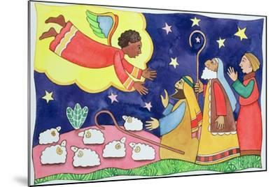 Annunciation to the Shepherds-Cathy Baxter-Mounted Giclee Print