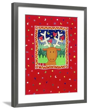 Reindeer and Robins-Cathy Baxter-Framed Giclee Print
