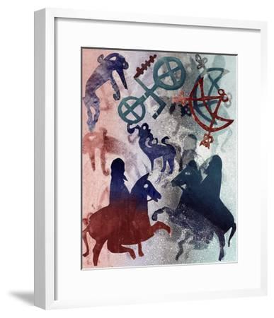 Pictish Riders, 1996-Gloria Wallington-Framed Giclee Print