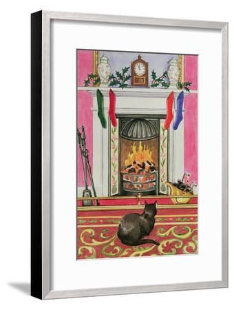 Fireside Scene at Christmas-Lavinia Hamer-Framed Giclee Print