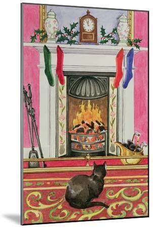 Fireside Scene at Christmas-Lavinia Hamer-Mounted Giclee Print