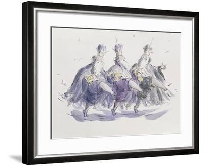 Three Kings Dancing a Jig-Joanna Logan-Framed Giclee Print
