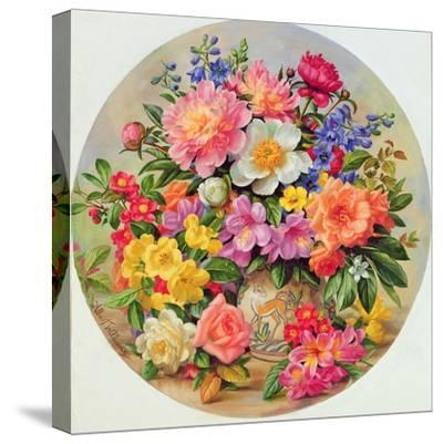Garden Flowers of July-Albert Williams-Stretched Canvas Print
