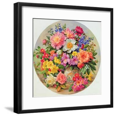 Garden Flowers of July-Albert Williams-Framed Giclee Print