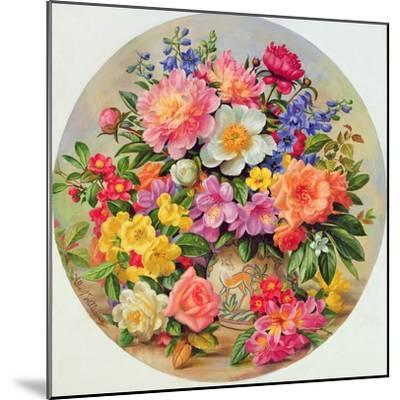 Garden Flowers of July-Albert Williams-Mounted Giclee Print