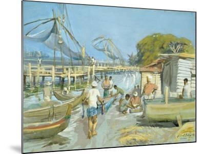 Fishing Nets Near Cochin, 1994-Tim Scott Bolton-Mounted Giclee Print