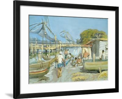Fishing Nets Near Cochin, 1994-Tim Scott Bolton-Framed Giclee Print