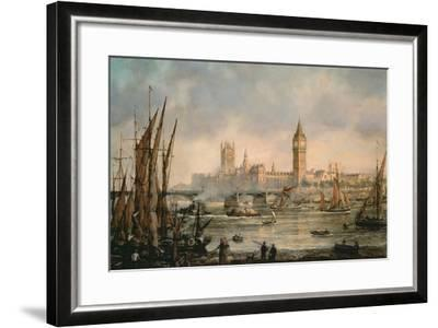 View of the Houses of Parliament from the River Thames-Richard Willis-Framed Giclee Print