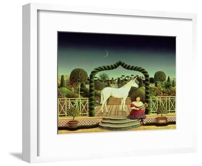 Girl with a Unicorn, 1980-Anthony Southcombe-Framed Giclee Print