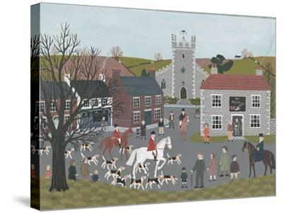 Setting Out from 'The Plough'-Vincent Haddelsey-Stretched Canvas Print