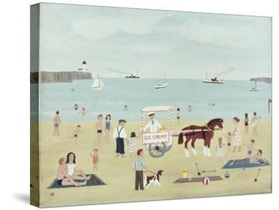 Selling Ice-Creams-Vincent Haddelsey-Stretched Canvas Print
