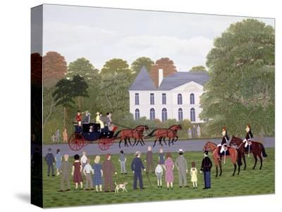 Les Drags - Longchamps and the Guard Republican-Vincent Haddelsey-Stretched Canvas Print