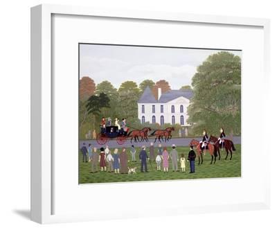 Les Drags - Longchamps and the Guard Republican-Vincent Haddelsey-Framed Giclee Print