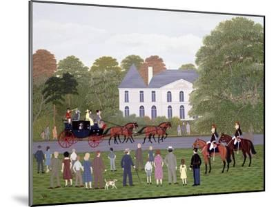Les Drags - Longchamps and the Guard Republican-Vincent Haddelsey-Mounted Giclee Print