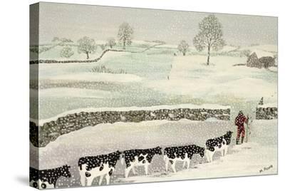 Cotswold: Winter Scene-Maggie Rowe-Stretched Canvas Print