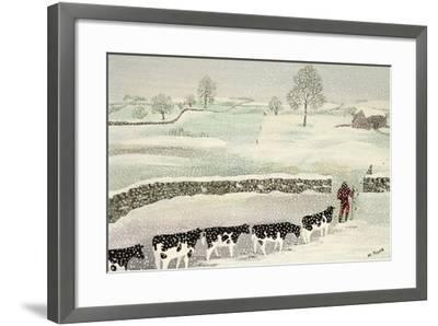 Cotswold: Winter Scene-Maggie Rowe-Framed Giclee Print