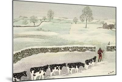 Cotswold: Winter Scene-Maggie Rowe-Mounted Giclee Print