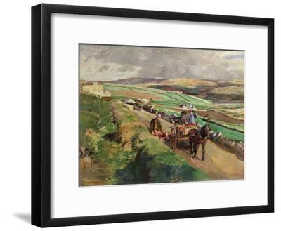 The Road to Market, 1924-Harold Harvey-Framed Giclee Print