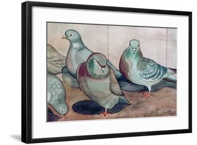 Pigeons-Carolyn Hubbard-Ford-Framed Giclee Print