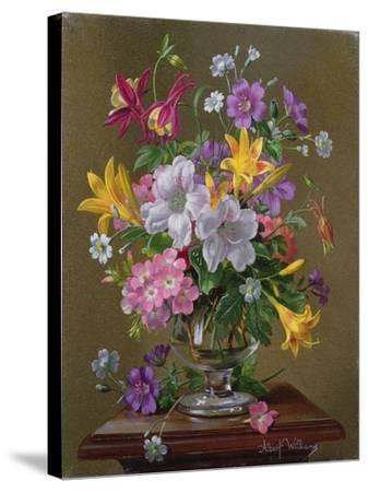 Summer Arrangement in a Glass Vase-Albert Williams-Stretched Canvas Print
