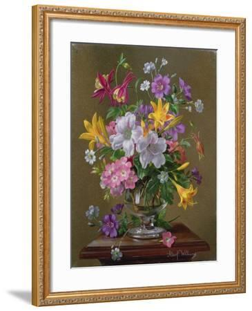 Summer Arrangement in a Glass Vase-Albert Williams-Framed Giclee Print
