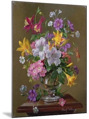 Summer Arrangement in a Glass Vase-Albert Williams-Mounted Giclee Print