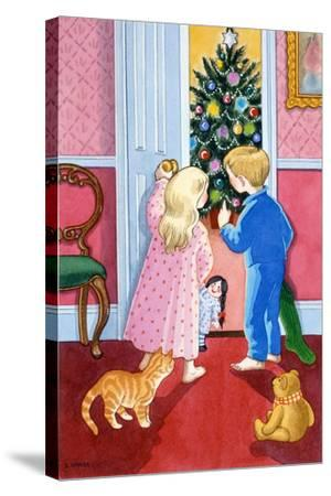 Look at the Christmas Tree-Lavinia Hamer-Stretched Canvas Print