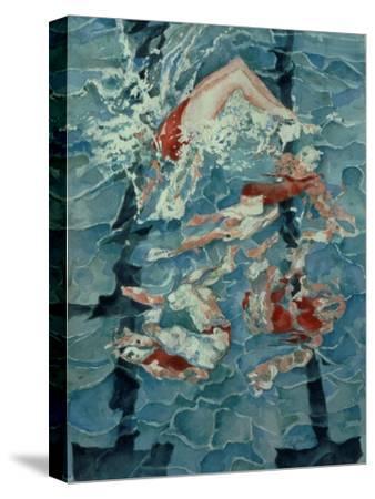 Synchronised Swimming, 1989-Gareth Lloyd Ball-Stretched Canvas Print