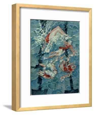 Synchronised Swimming, 1989-Gareth Lloyd Ball-Framed Giclee Print