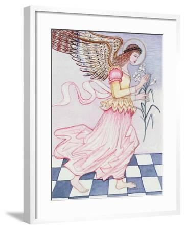 Angel with Tiger Lily, 1995-Gillian Lawson-Framed Giclee Print