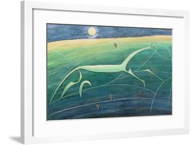 White Horse Hill, Uffington, 1992-Evangeline Dickson-Framed Giclee Print