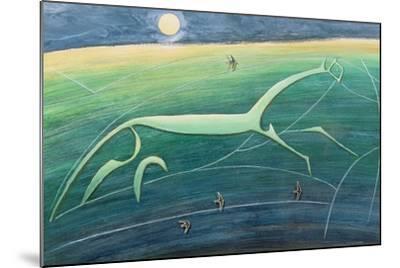 White Horse Hill, Uffington, 1992-Evangeline Dickson-Mounted Giclee Print