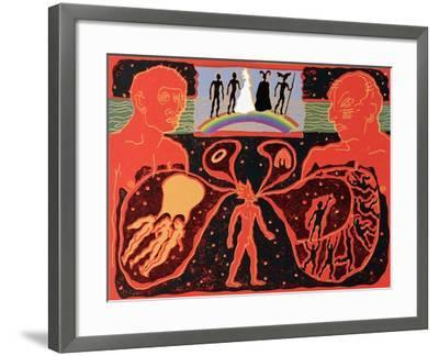 The Rhinemaidens Sing of Loss of Gold as Gods Cross Rainbow Bridge: Illustration for 'Die Walkure'-Phil Redford-Framed Giclee Print
