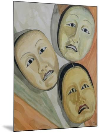 Oriental Masks-Carolyn Hubbard-Ford-Mounted Giclee Print