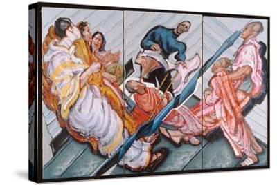 Followers of Krishna, 1996-Alek Rapoport-Stretched Canvas Print