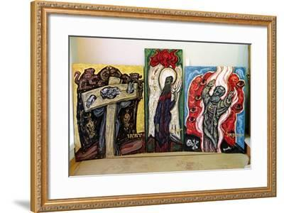 Jeremiah, Isaiah and Ezekiel, from 'the Books of Prophets', 1995-Alek Rapoport-Framed Giclee Print