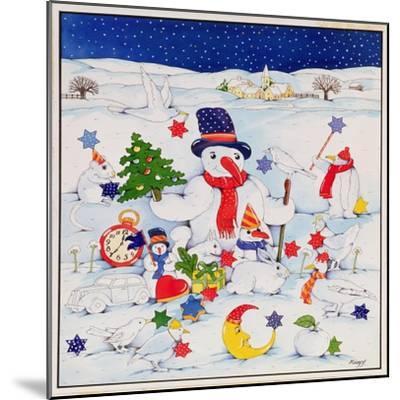 Snowman and Friends-Christian Kaempf-Mounted Giclee Print