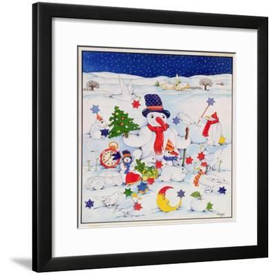 Snowman and Friends-Christian Kaempf-Framed Giclee Print