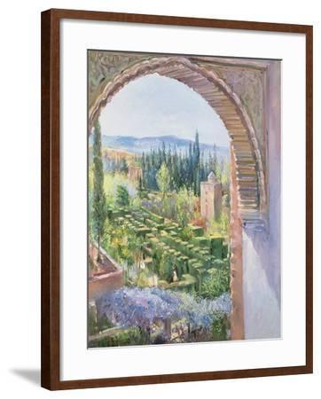 Alhambra Gardens-Timothy Easton-Framed Giclee Print