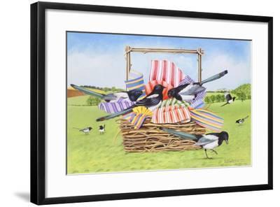 Magpies, 1990-E.B. Watts-Framed Giclee Print