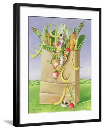Paper Bag with Vegetables, 1992-E.B. Watts-Framed Giclee Print