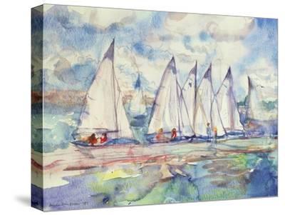 Blue Sailboats, 1989-Brenda Brin Booker-Stretched Canvas Print